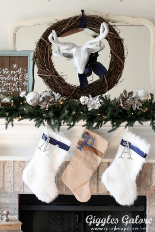 Sophisticated mantel in cool hues