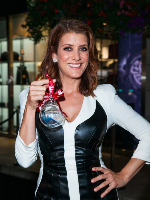 Actress Kate Walsh with her signed ornament
