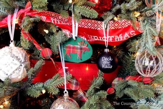 Rustic Farmhouse Christmas Tree Ornaments
