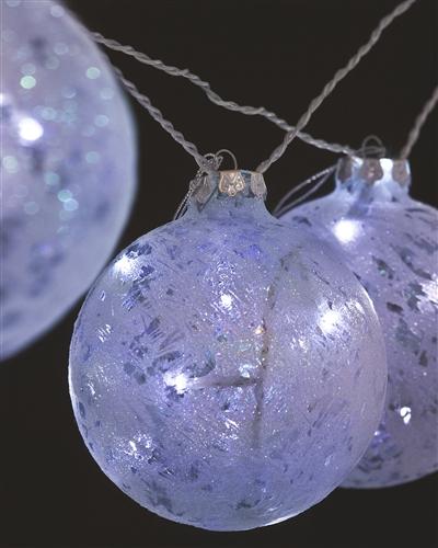 Glitter Art Glass Ornament Lights
