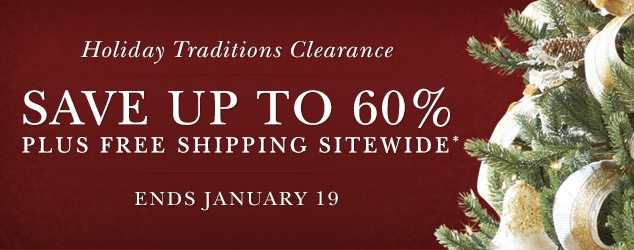 Balsam Hill's Holiday Traditions Clearance Sale