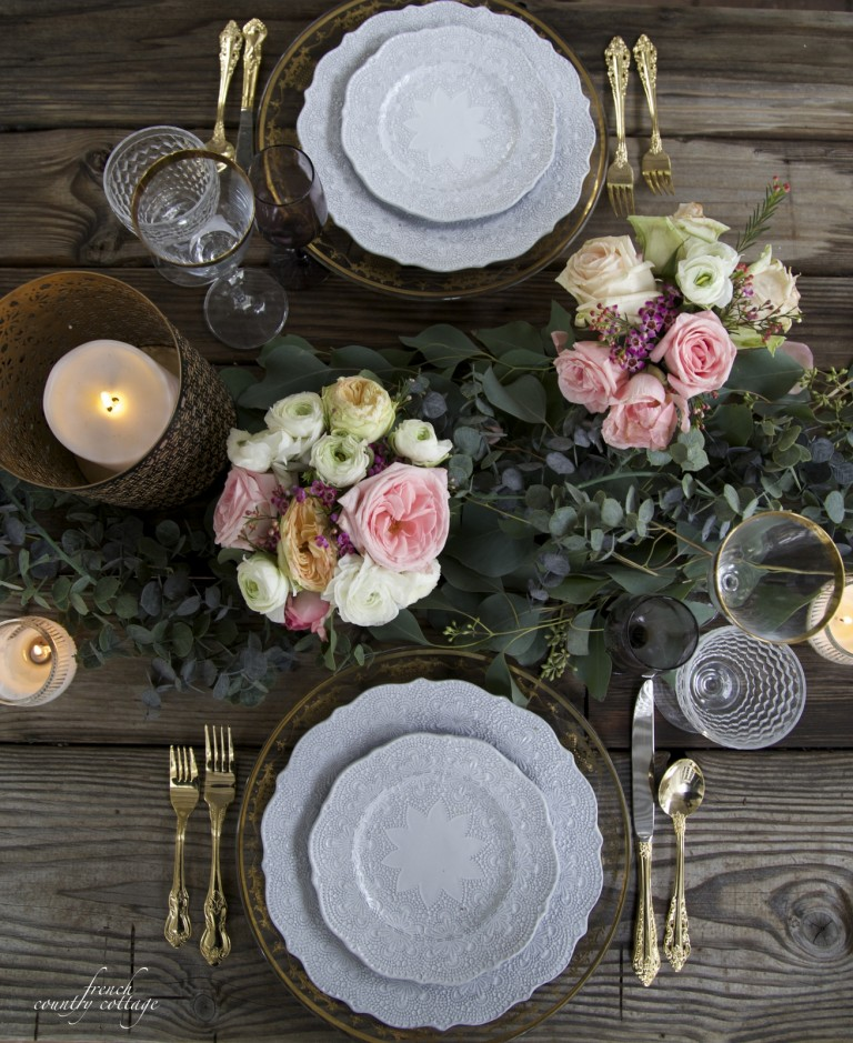 Floral Valentine Tablescape