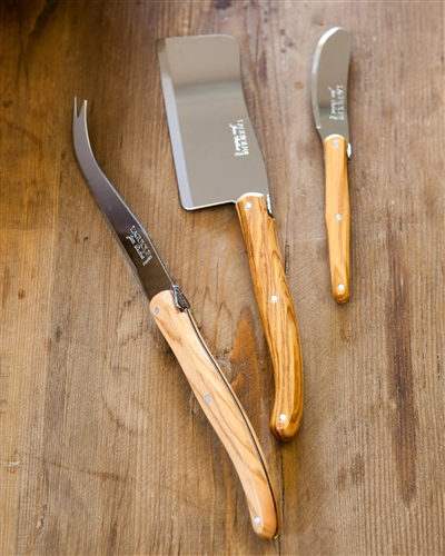 Balsam Hill's Laguiole Wooden Cheese Knives