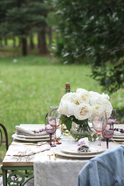 Tablescape from French Country Cottage