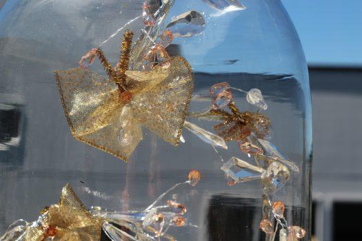 Ribbon butterflies on a crystal garland