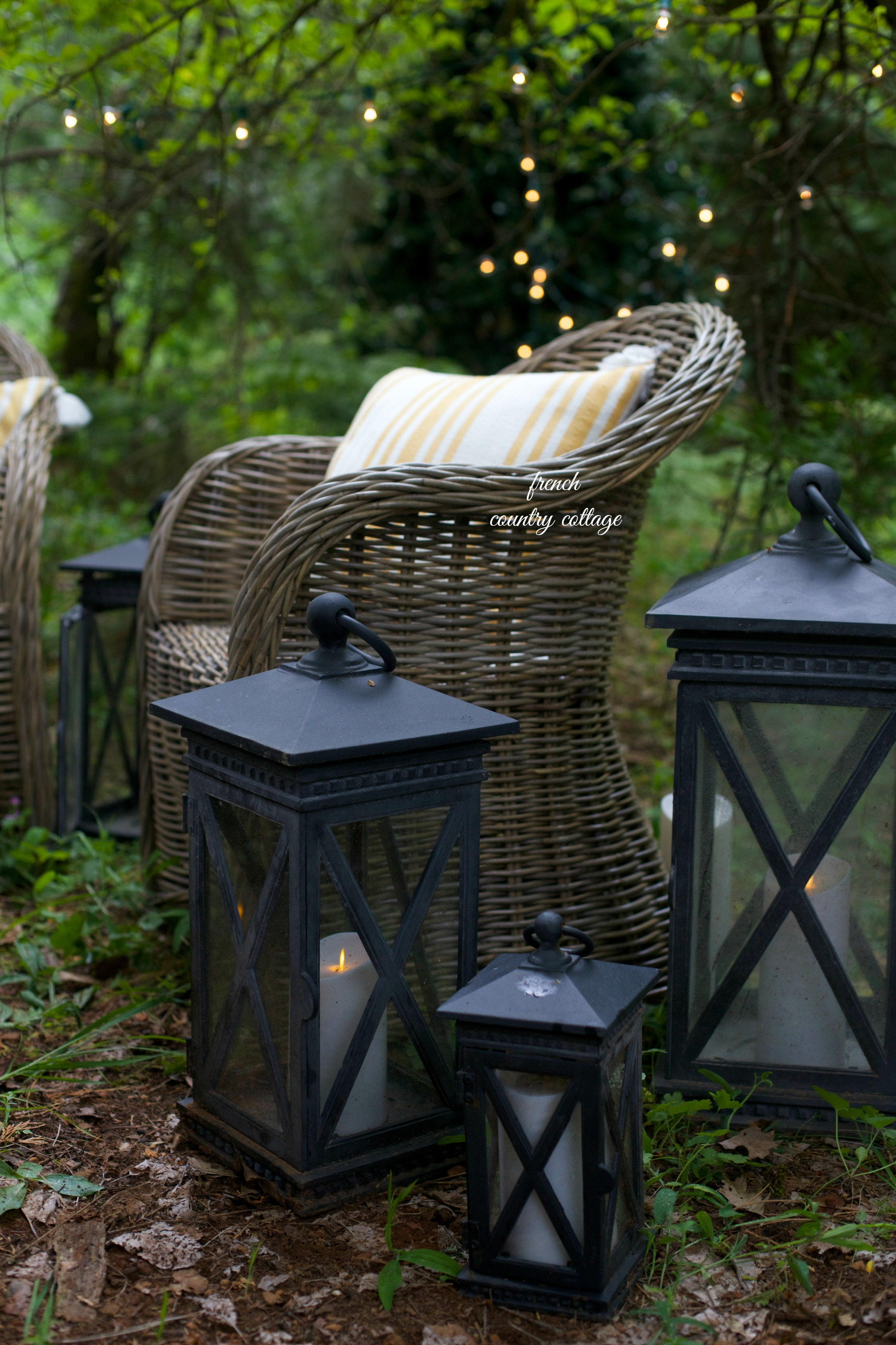 Candela Crossbar Lanterns and LED Candles add to the ambiance