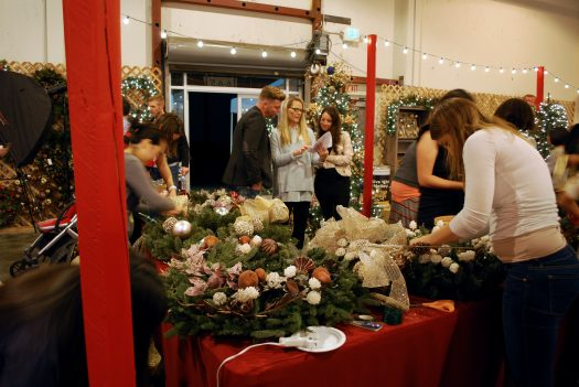 In action at the 2015 Balsam Hill Showroom event, along with fellow contributors Brad and Courtney