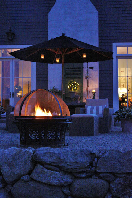 Copper fire pit with cover
