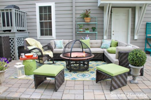 An inviting outdoor set up