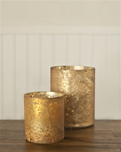 Balsam Hill's Mercury Glass Candle Holder
