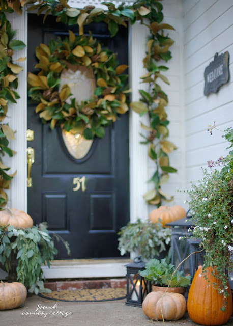 Beautiful front porch from French Country Cottage
