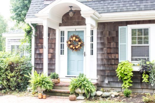 Front porch decorated with rustic charm on Finding Silver Pennies