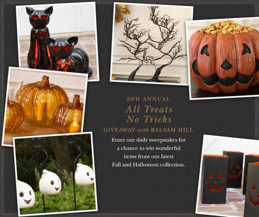 2nd Annual All Treats, No Tricks with Balsam Hill