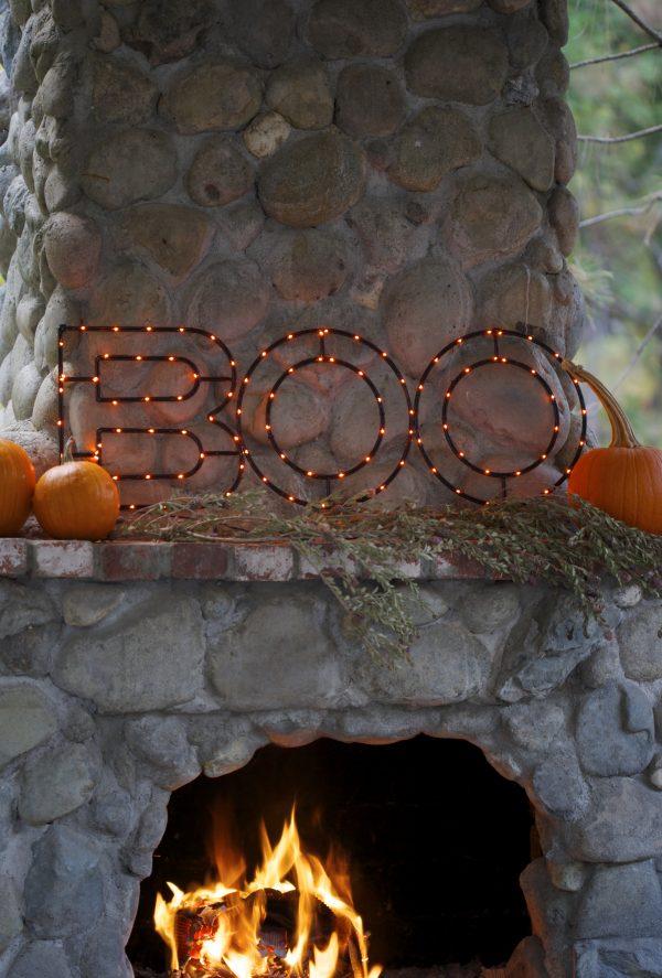 Balsam Hill's Halloween BOO Sign, Outdoor Display