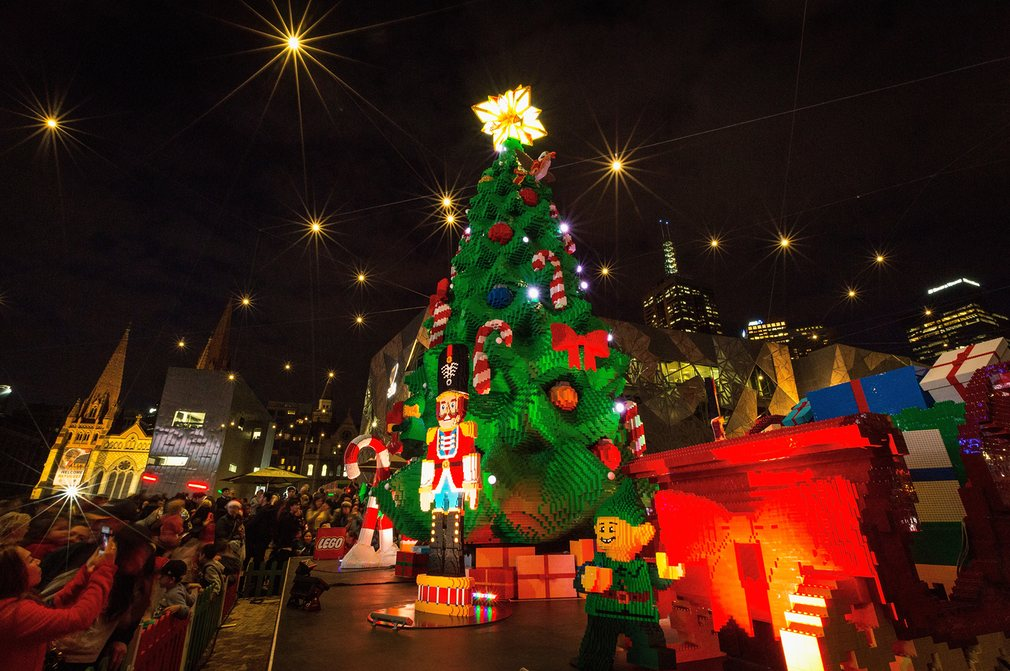Giant Lego Christmas tree in Australia