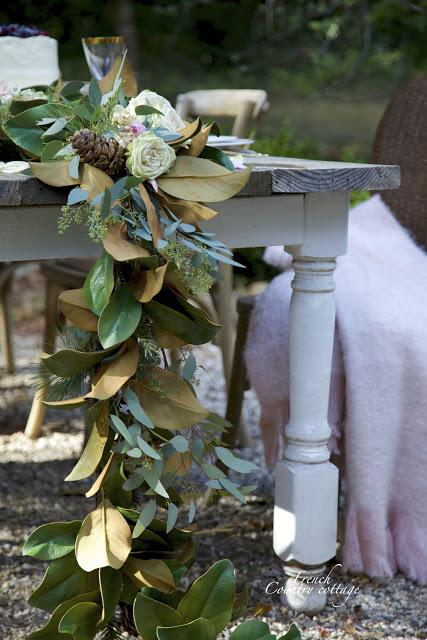 Draping Magnolia Wreath Garland
