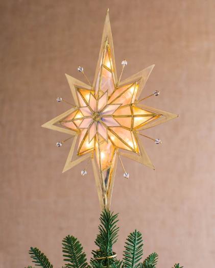 Pre-Lit Bethlehem Star Tree Topper