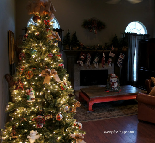 Decorated tree from Over 50 Feeling 40