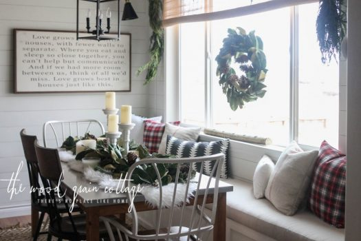 Decorated breakfast nook