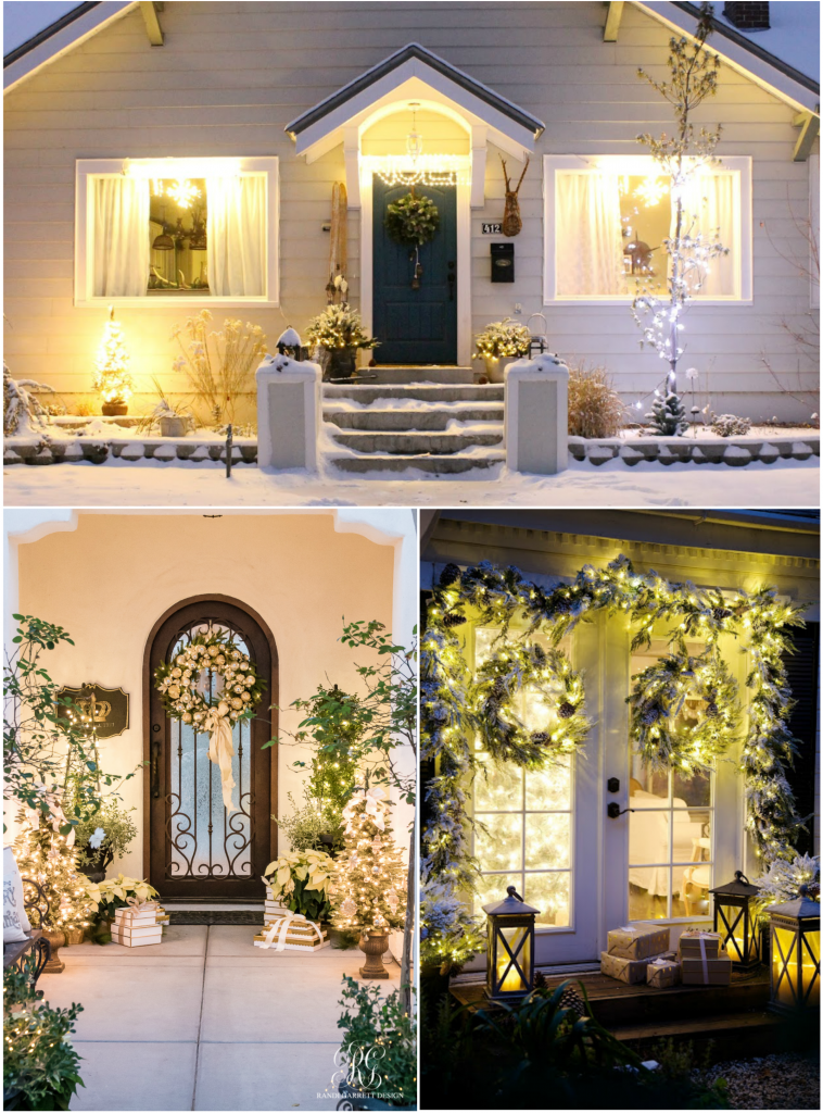 Clockwise from top: Emily, Courtney, and Randi's decorated outdoor spaces