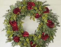 Balsam Hill Peony Wreath