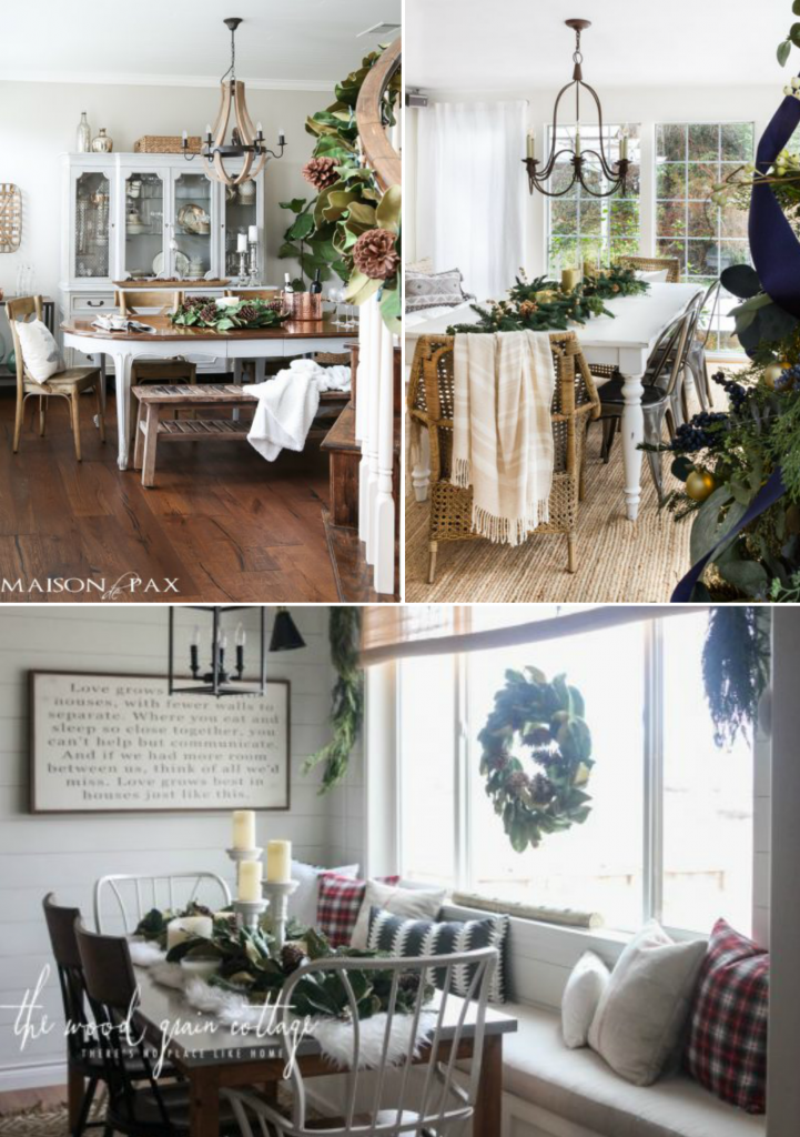 Clockwise from top left: Rachel, Annie, and Shayna's tablescapes