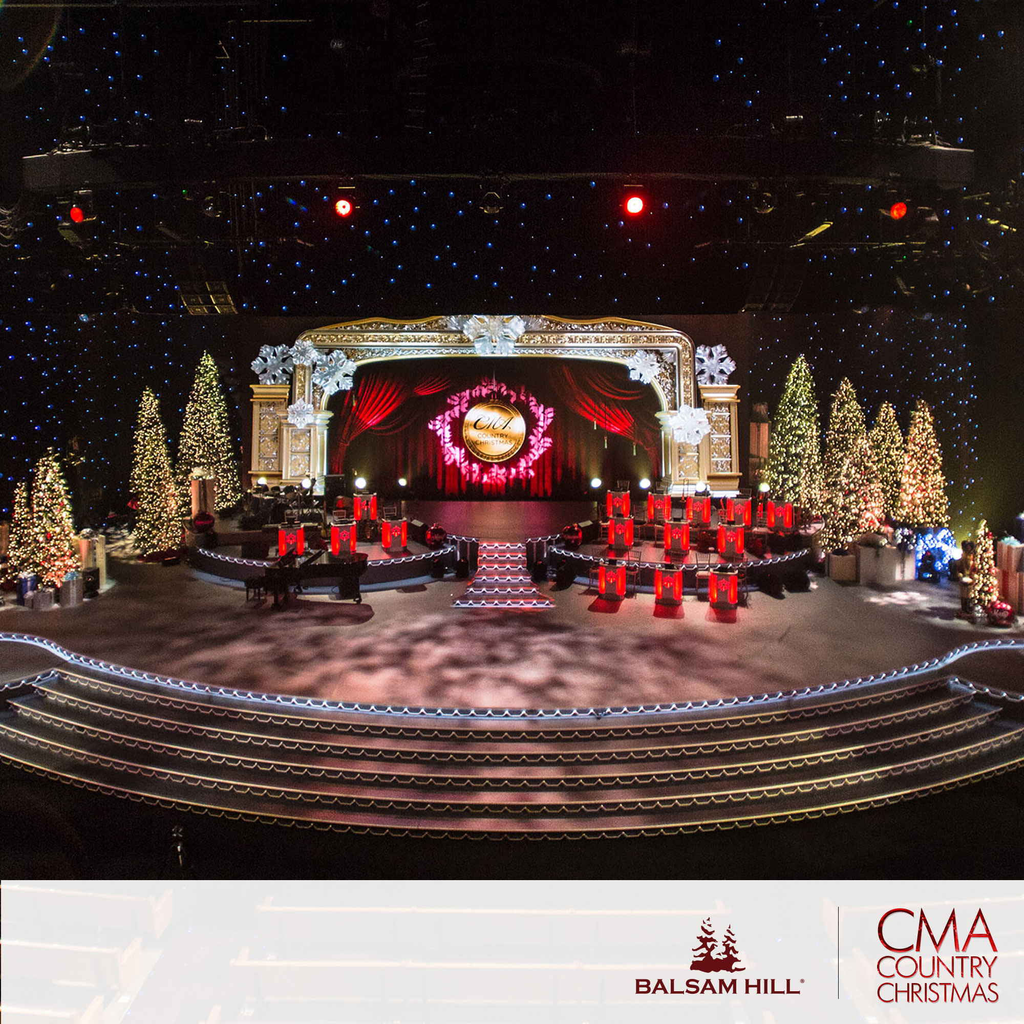 the balsam hill cma stage set up