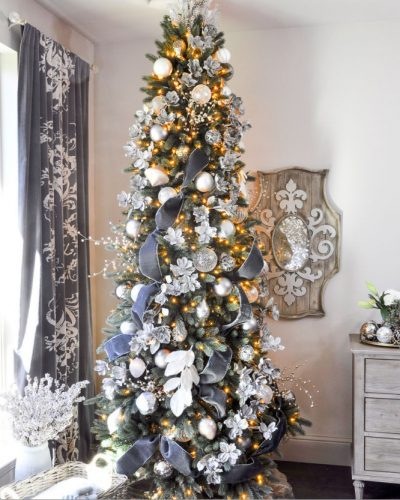 The Vermont White Spruce Narrow is a space-saving option to a full-shaped tree (Photo courtesy of Decor Gold Designs)