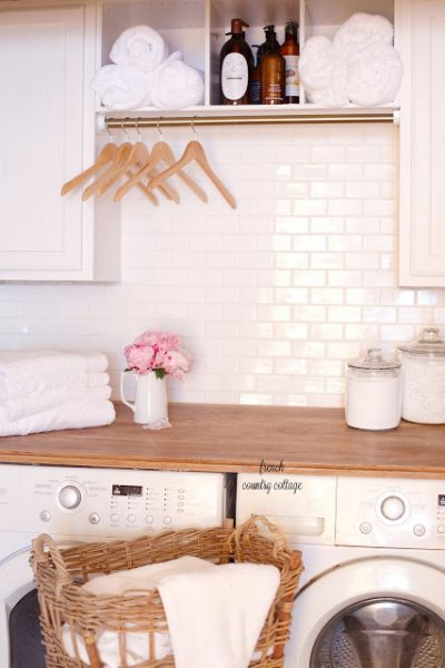 Crisp and clean laundry room