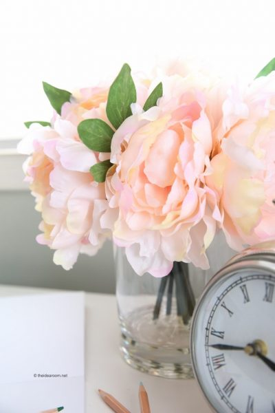 Our Peony Arrangement is a charming addition to a child's bedside table