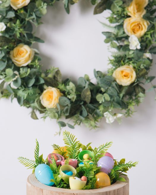 Easter eggs are fun and colorful accents for your display