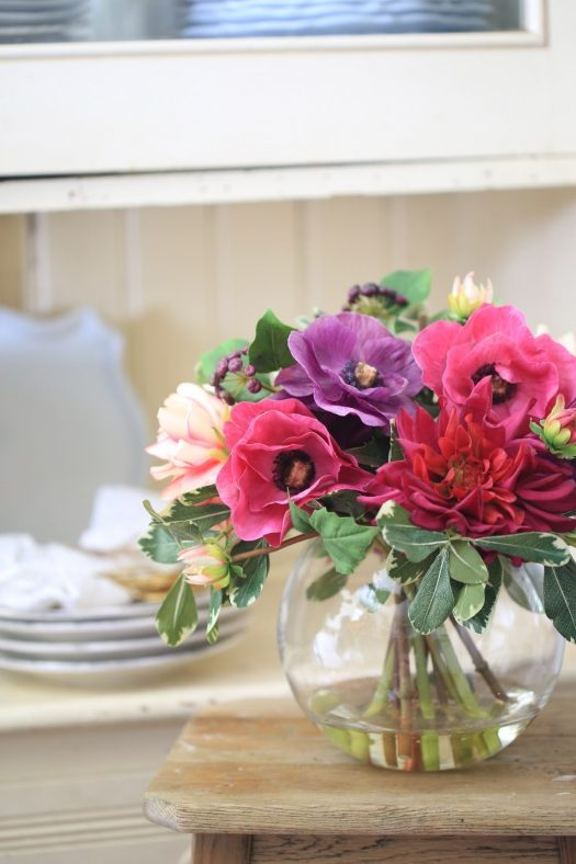 Lovely dahlias lend vibrant color to any room