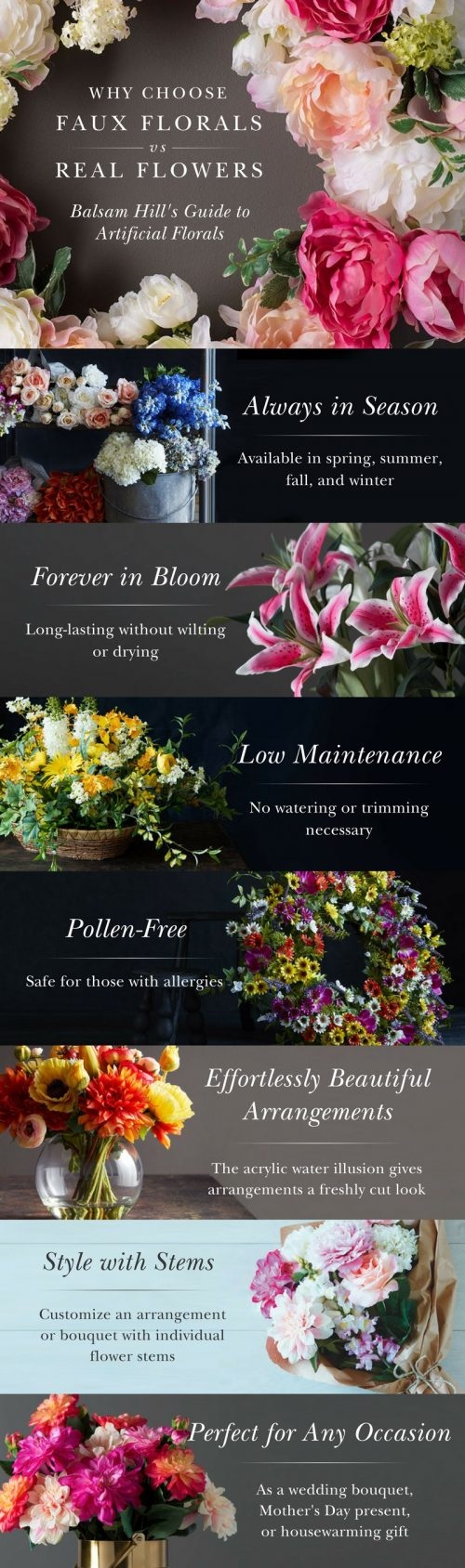 benefits of artificial flowers vs real flowers
