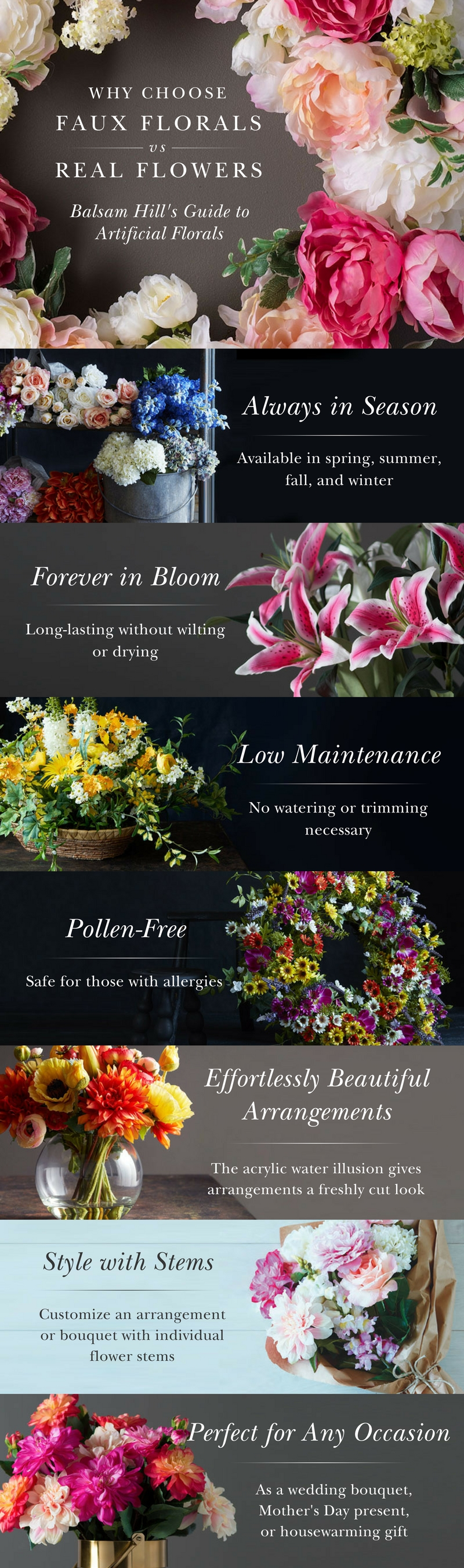 Real Vs Faux Balsam Hills Guide To Artificial Florals Balsam