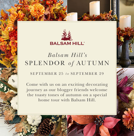 Balsam Hill's Splendor of Autumn blog hop