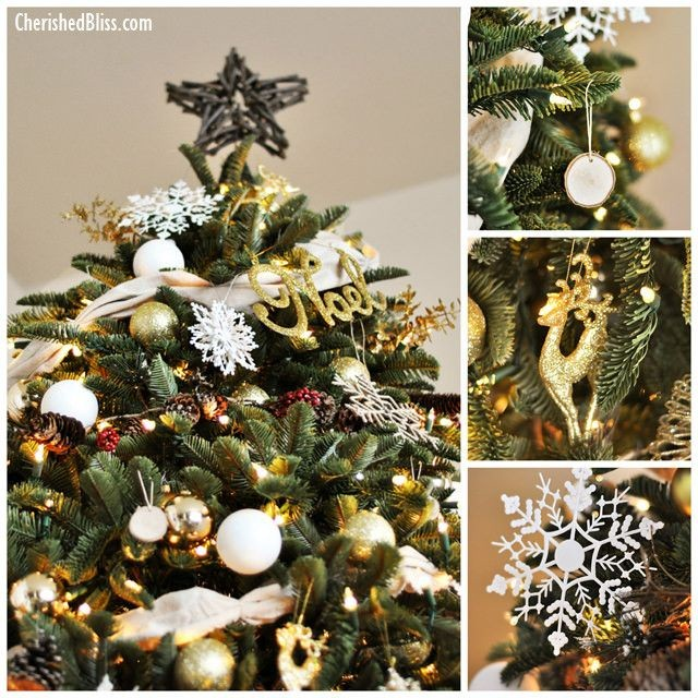 Rustic and Glamorous Christmas Tree