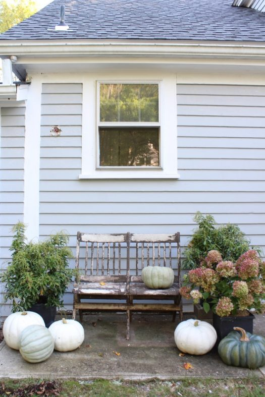 Gorgeous lifelike heirloom pumpkins add rustic charm to outdoor spaces