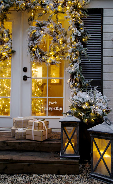 a merry and bright outdoor christmas display