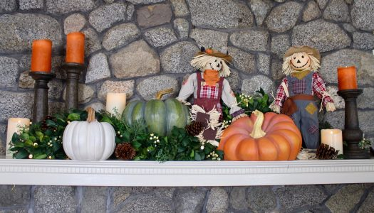 Harvest-themed Mantel by Delilah