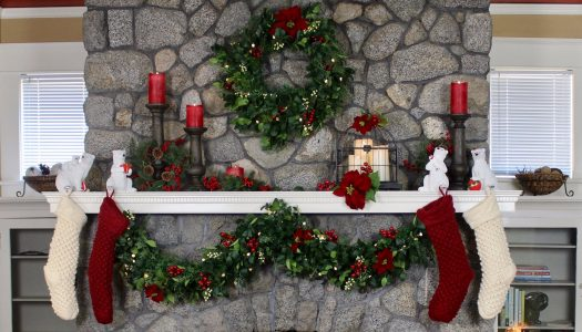 Christmas Mantel by Delilah