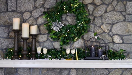 New Year's Mantel by Delilah