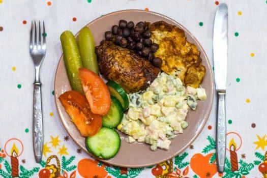 Latvian Christmas dinner
