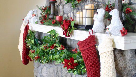 Delilah's Christmas Mantel Design 4