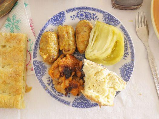 Macedonian Christmas Eve meal