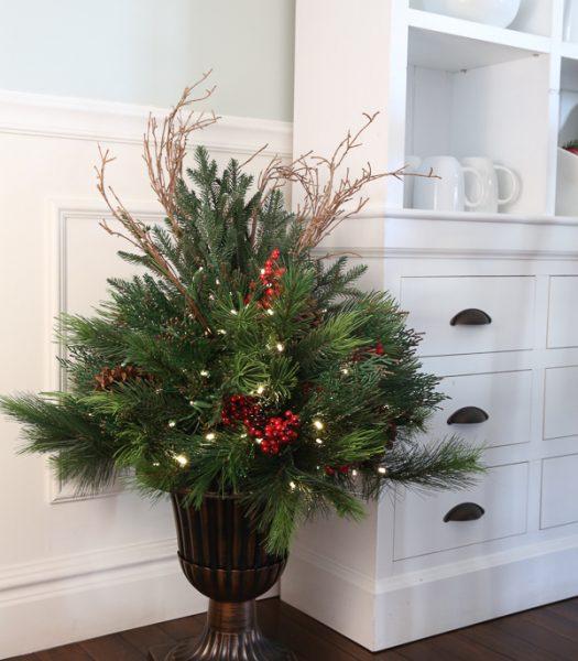 Aurora Pine Foliage with Urn Planter