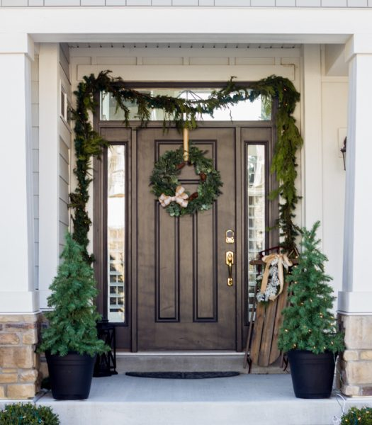 Berkshire Mountain Fir Wreath and Garland, Holiday Hill Decorative Sled