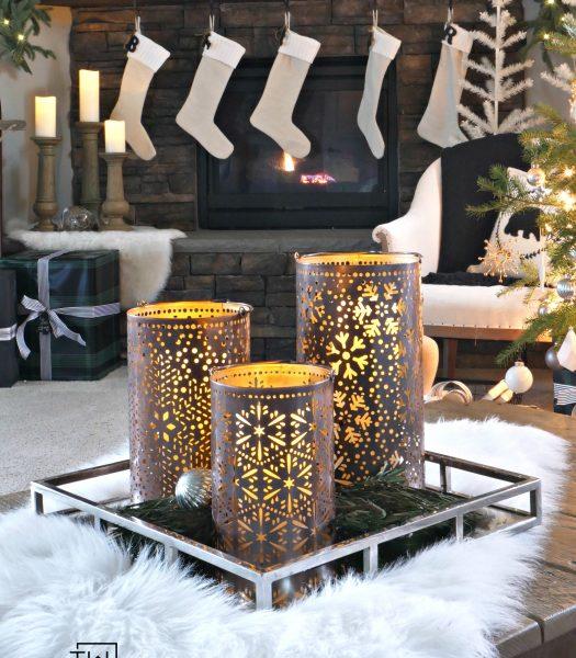 Holiday Snowflake Luminaries