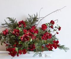 Balsam Hill Faux Florals Red Poinsettia