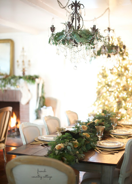 Table set for holiday entertaining