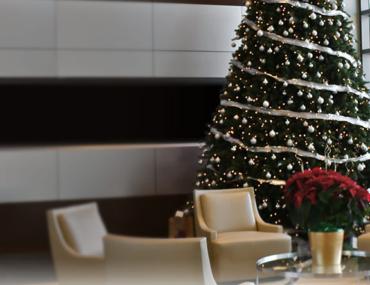 Balsam Hill flip tree in corporate office
